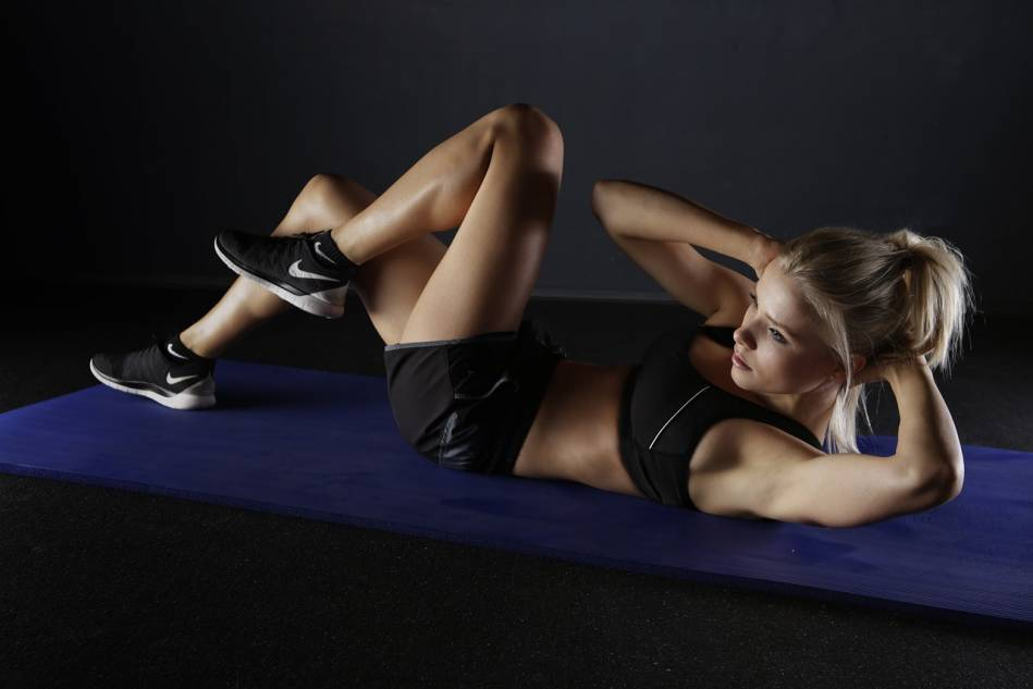 Bicycle crunches for the strong oblique muscles!